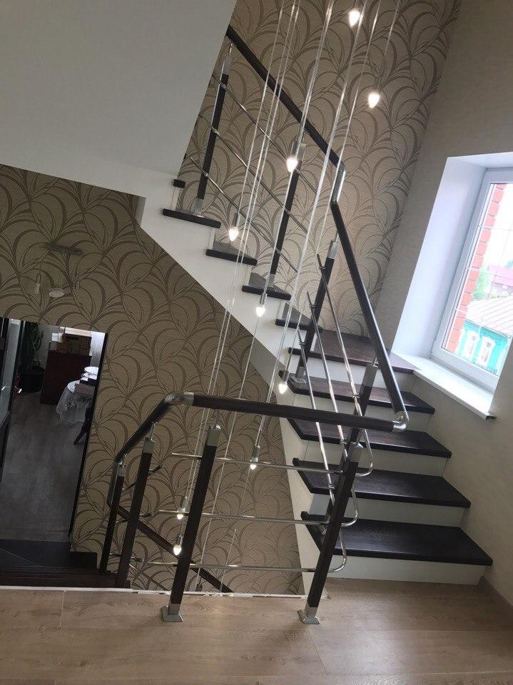 Обшитая лестница второй этаж